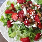 Strawberry Salad with Healthy Poppyseed Dressing
