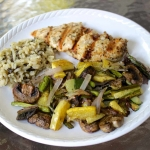 Roasted Summer Veggies + Lemon Rosemary Chicken