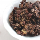 Double Chocolate Almond Granola Clusters