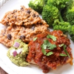 Cheese-Stuffed Salsa Chicken with Mexican Risotto
