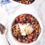 Healthy Mixed Berry Crisp