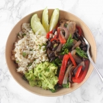 Simple Vegetarian Fajita Bowls