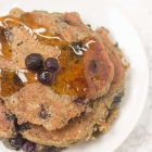 Healthy Blueberry Banana Oat Pancakes for One