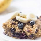 Easy Make-Ahead Banana Blueberry Baked Oatmeal