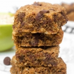 Healthy Peanut Butter Oatmeal Bars with Chocolate Chips
