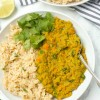 Easy Red Lentil Dal with Cilantro Lime Rice