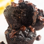 Flourless Peanut Butter Banana Chocolate Muffins