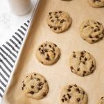 Soft Chocolate Chip Tahini Cookies