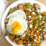 Roasted Sweet Potato Hash with Fried Eggs