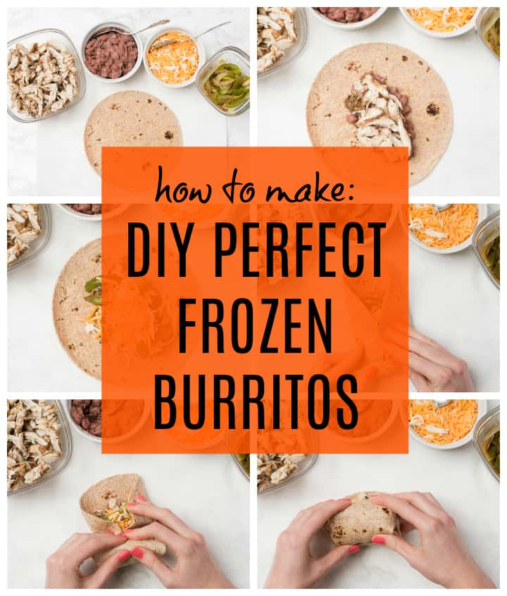 Homemade frozen burritos are an easy make-ahead meal! Healthy and quick lunch or dinner