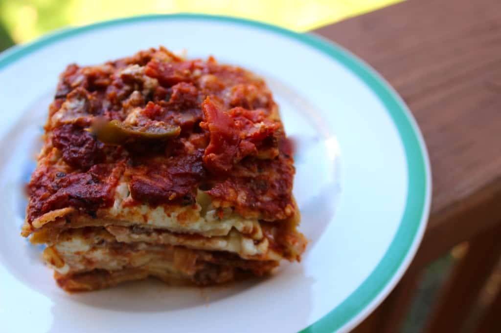 Delicious homemade lasagna– my all-time favorite meal!