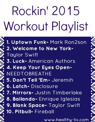 An awesome, upbeat playlist to help you get fit in 2015!