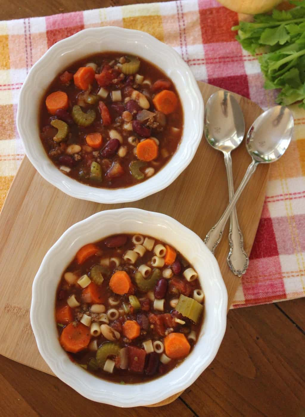 Pasta e Fagoli Soup - Healthy Liv