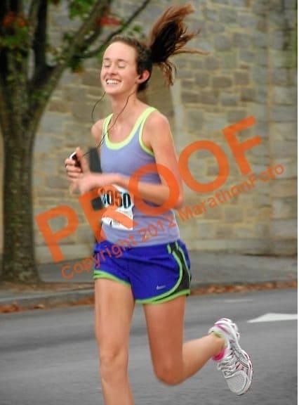 having way too much fun running a half marathon