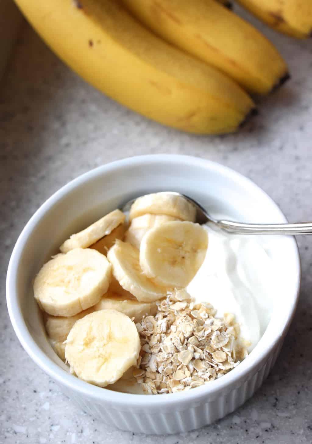 plain greek yogurt honey banana granola