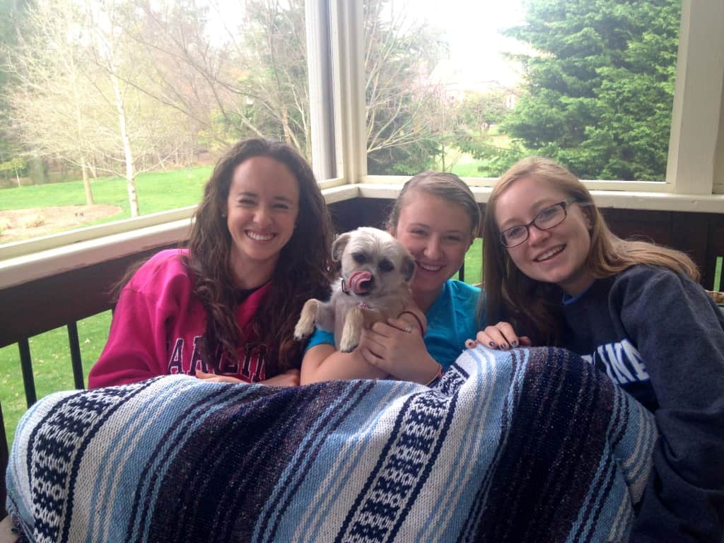 girls dog blanket