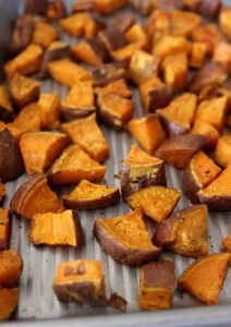 Crispy Roasted Sweet Potato Wedges- the perfect easy, healthy side!