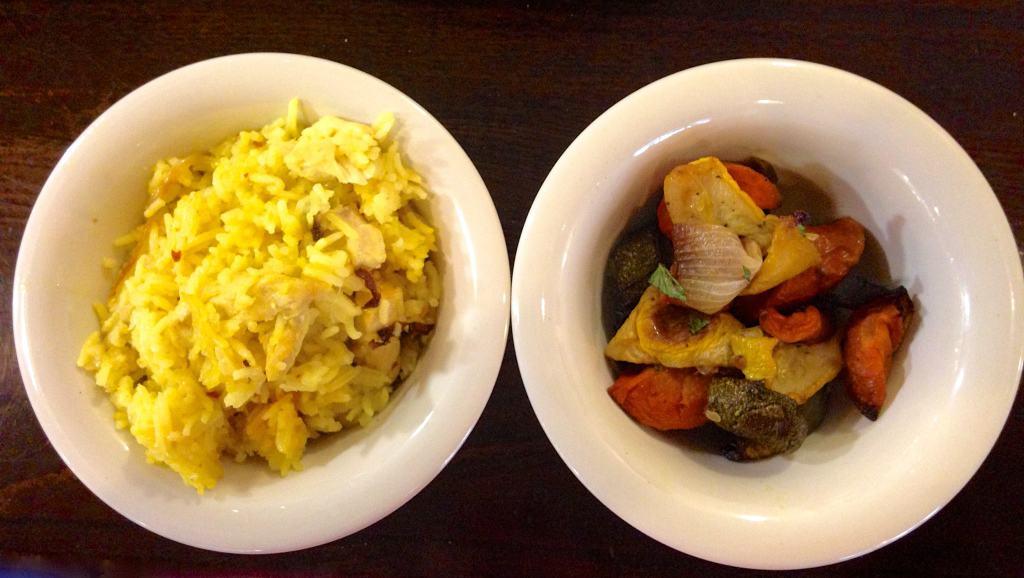 lebanese chicken and rice roasted veggies