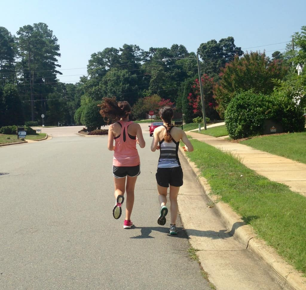 exercising on vacation sisters who run together stay together
