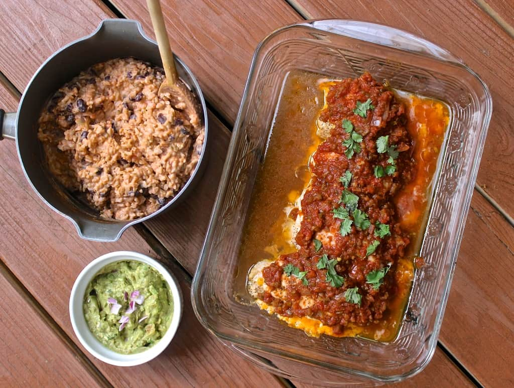 Cheese-Stuffed Salsa Chicken- serve with Mexican Risotto or brown rice (this is my fav. easy & healthy meal! | www.healthy-liv.com