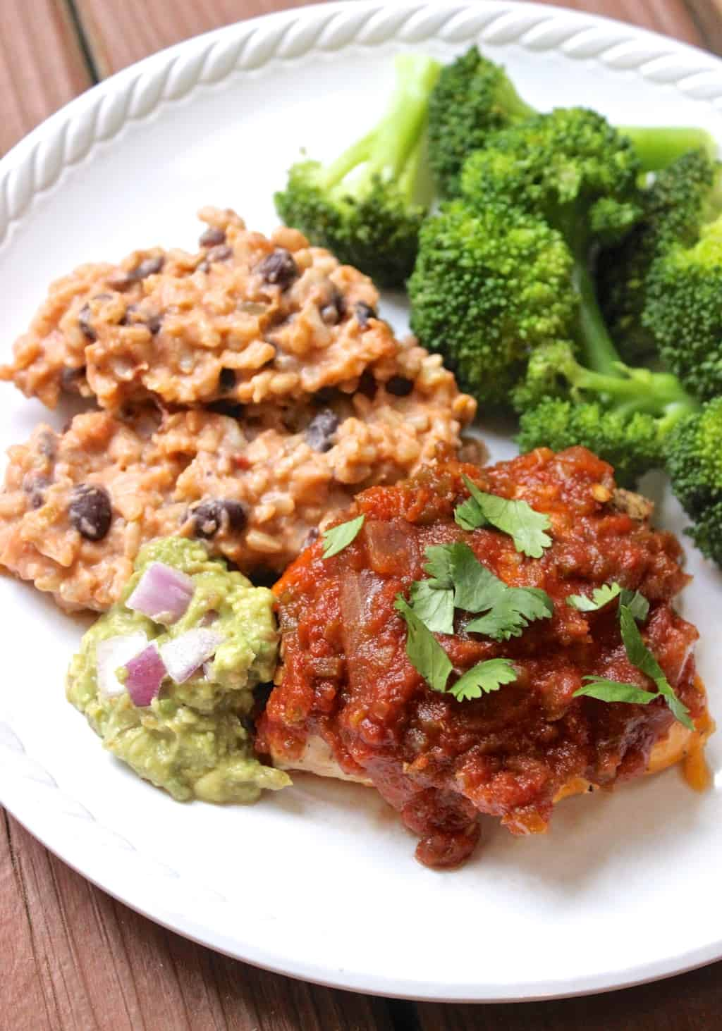 10 simple, healthy Mexican recipes that are DELICIOUS like this Cheese-Stuffed Salsa Chicken