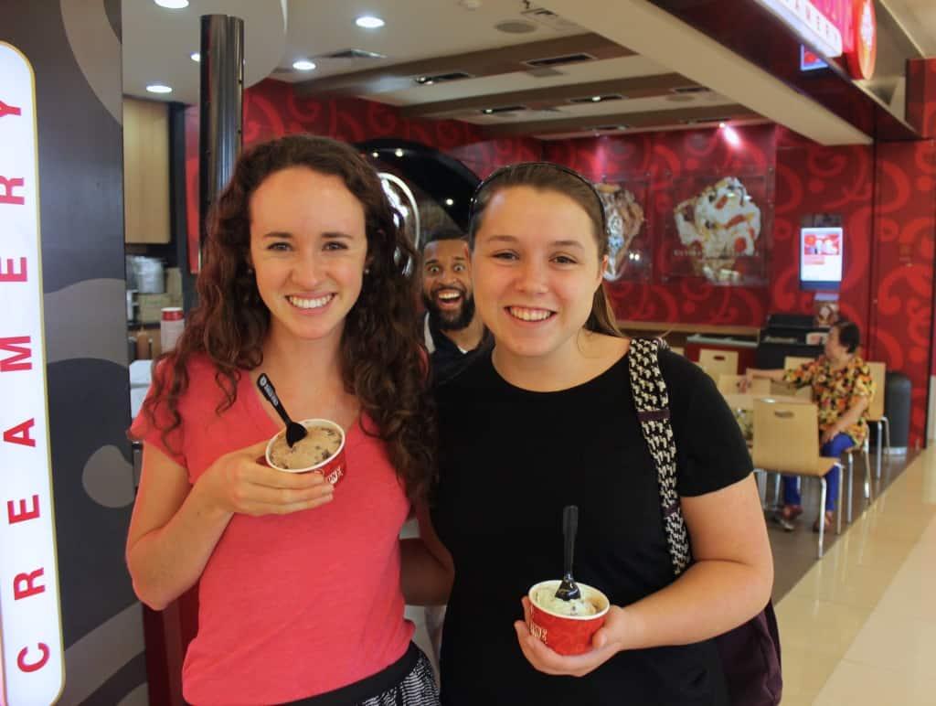 eating in indonesia coldstone creamery