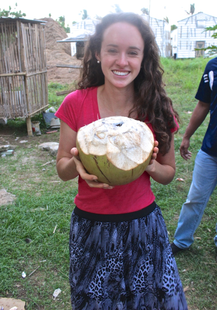 eating in indonesia fresh coconut milk