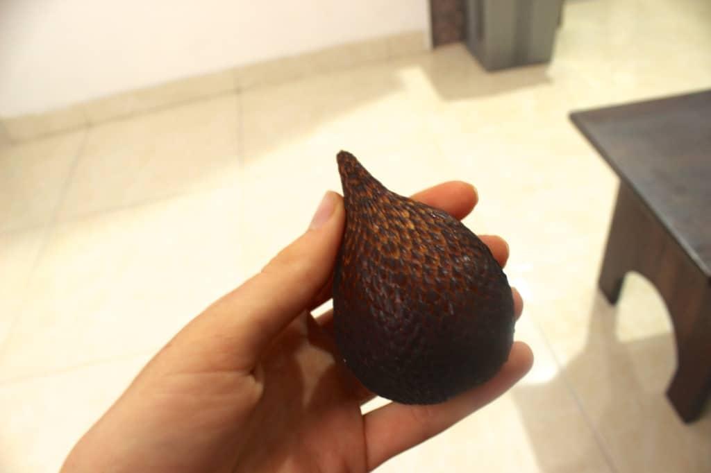 eating in indonesia snake fruit