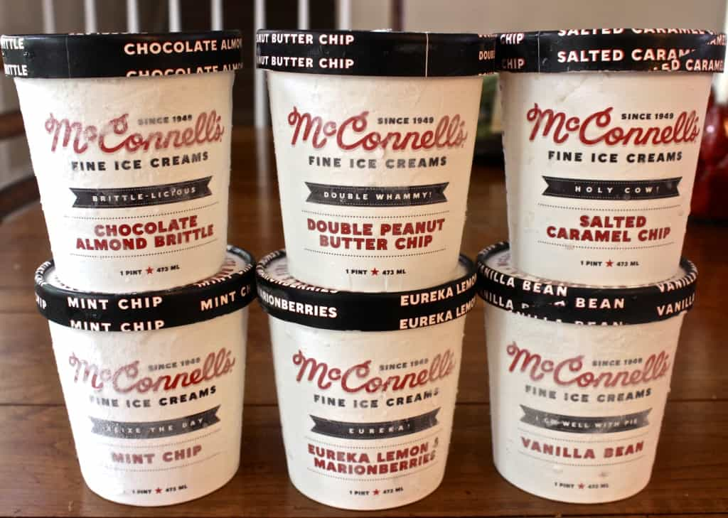 Delivery package McConell ice cream