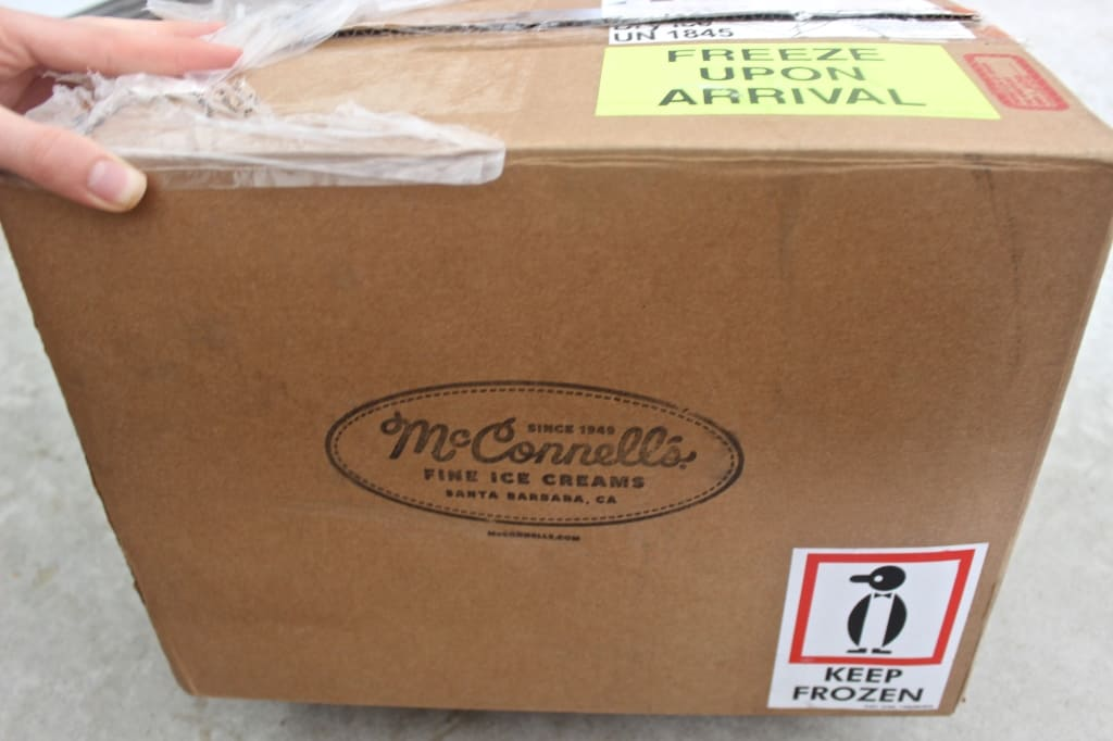 The Best Care Package I Ever Received- McConnell's Ice Cream!