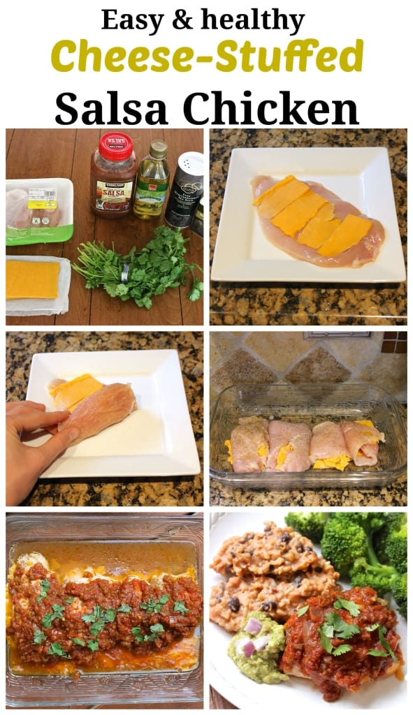 Cheese-Stuffed Salsa Chicken, plus a recipe for healthy Mexican Risotto. So DELICIOUS!