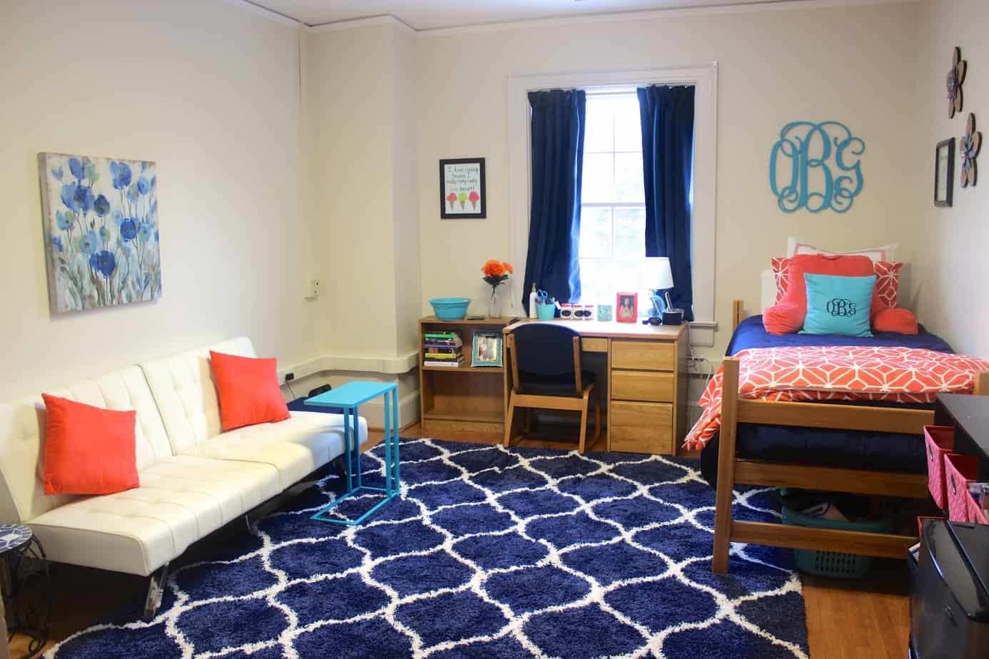 Sophomore dorm room tour healthy liv for College student living room ideas