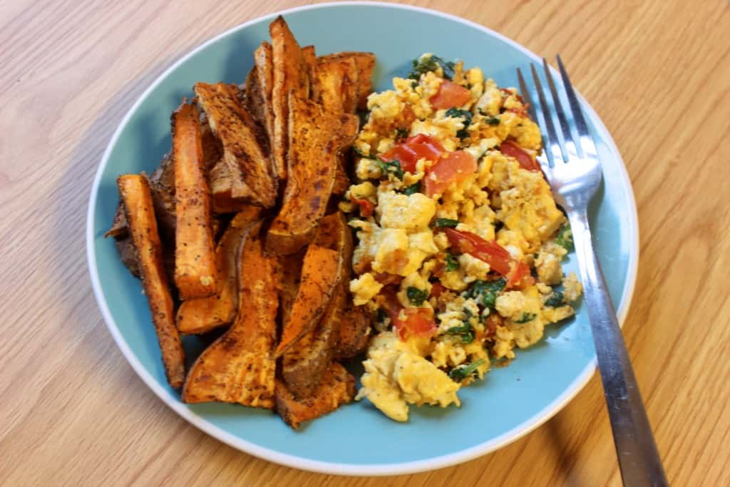 whole 30 sweet potatoes scrambled eggs