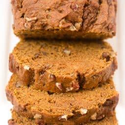 Healthy Whole Wheat Pumpkin Bread
