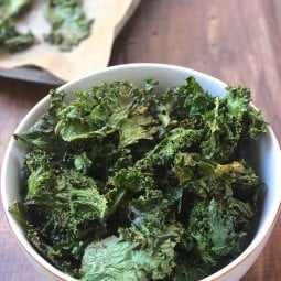 Tips for perfectly crispy, healthy kale chips!