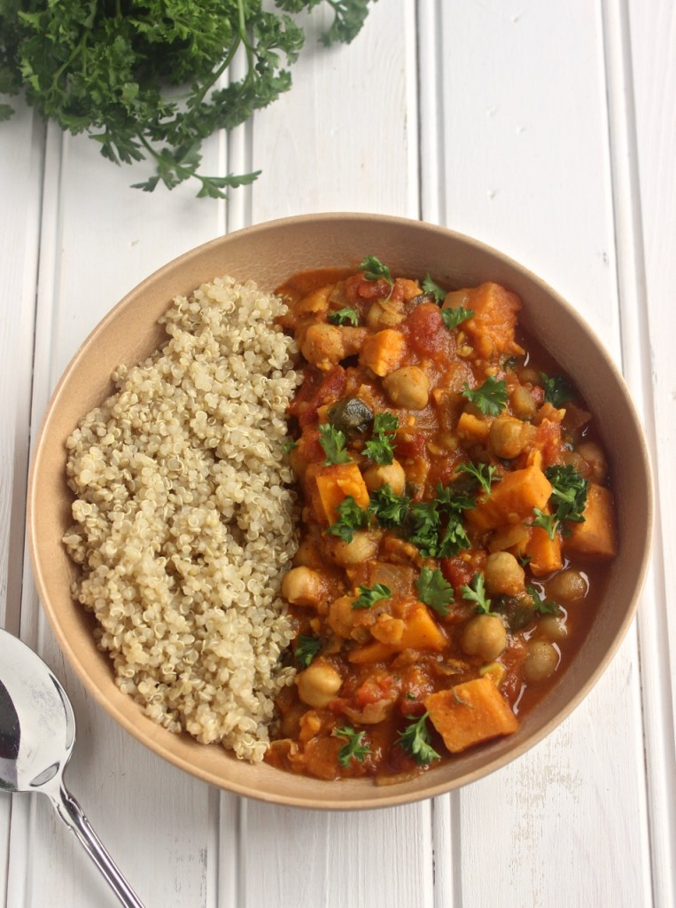 Sweet Potato and Chickpea Stew- easy, healthy, and DELICIOUS!