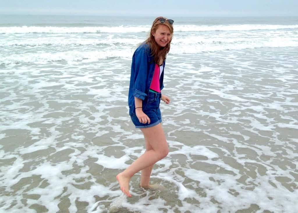 cold spring break beach ocean