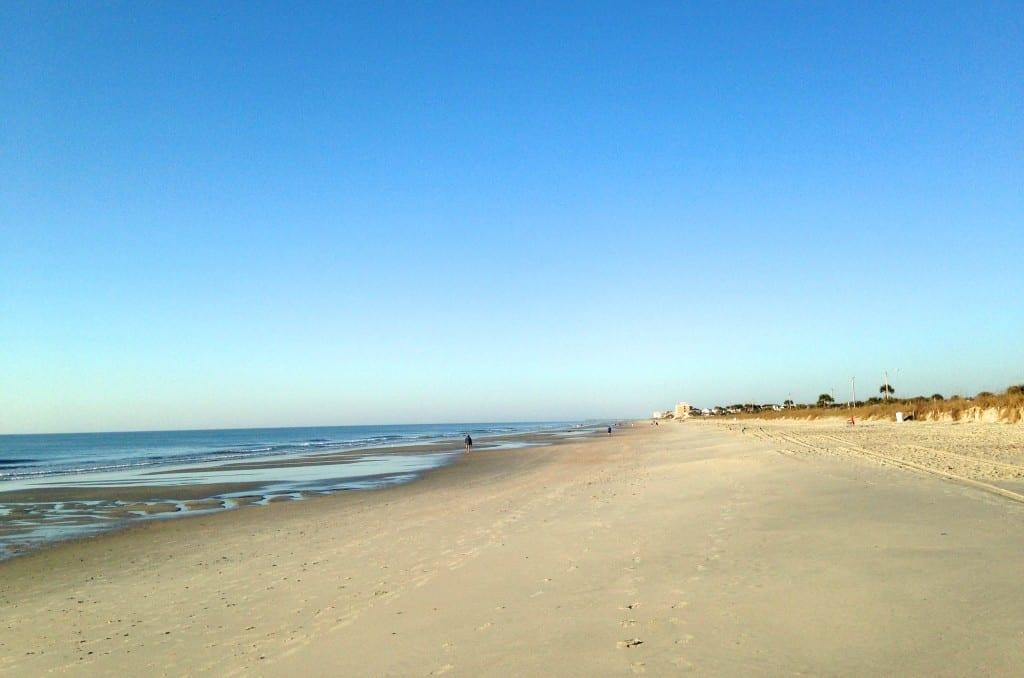spring break morning beach run