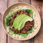 Simple black beans & rice that takes 25 minutes to make! Affordable college student meal that's also delicious