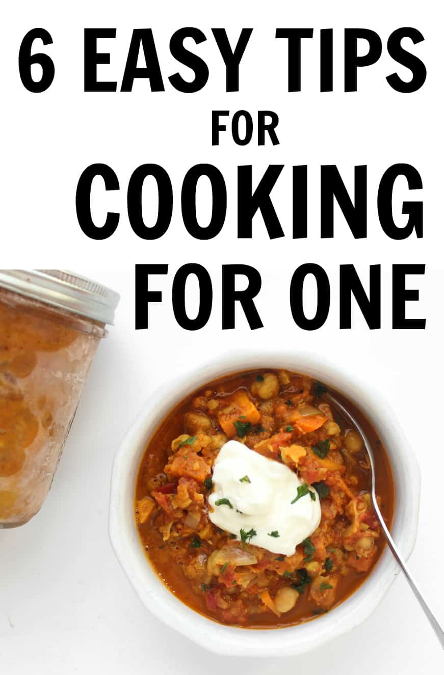 Tips for cooking for yourself as a college student or just as a single individual!