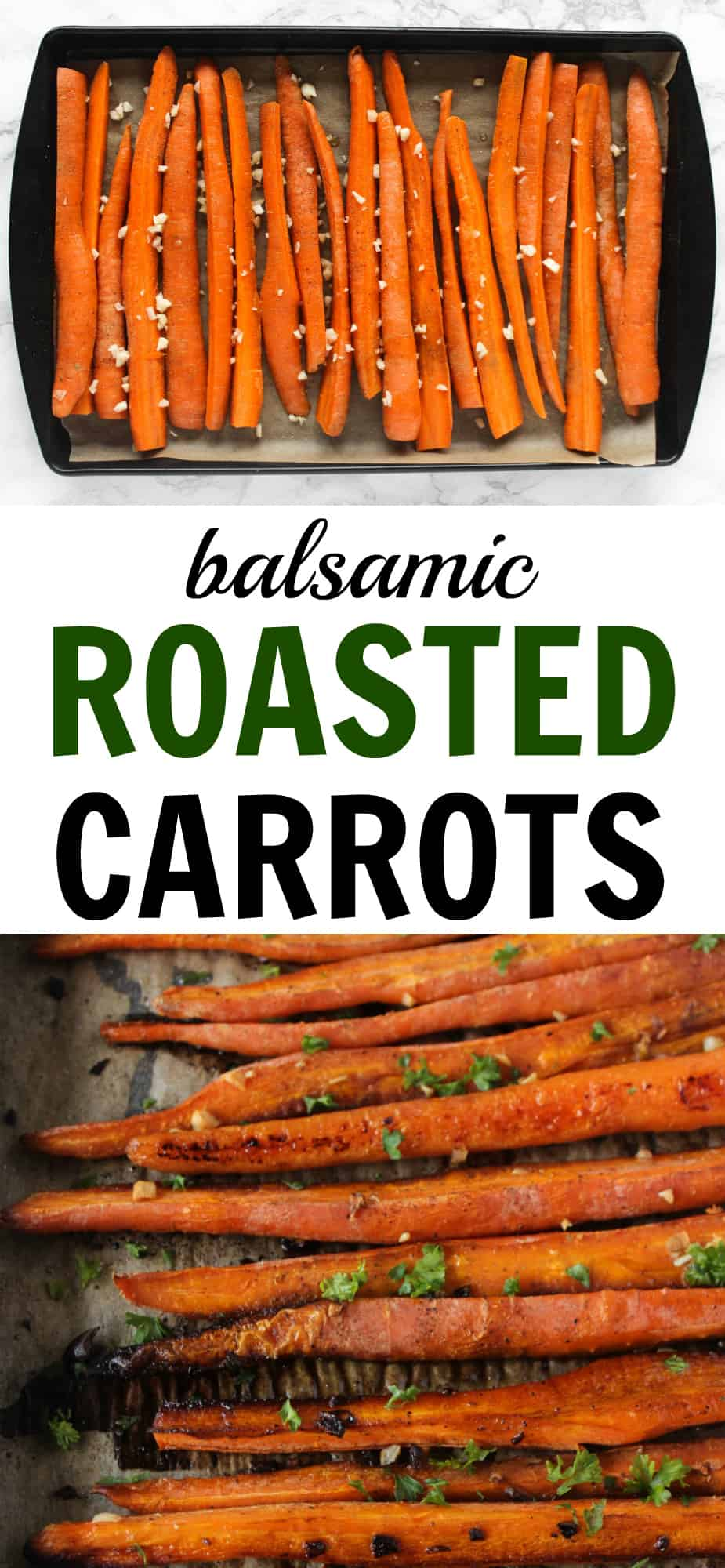 10 minutes is all it takes to prep these crispy balsamic roasted carrots! // www.healthy-liv.com