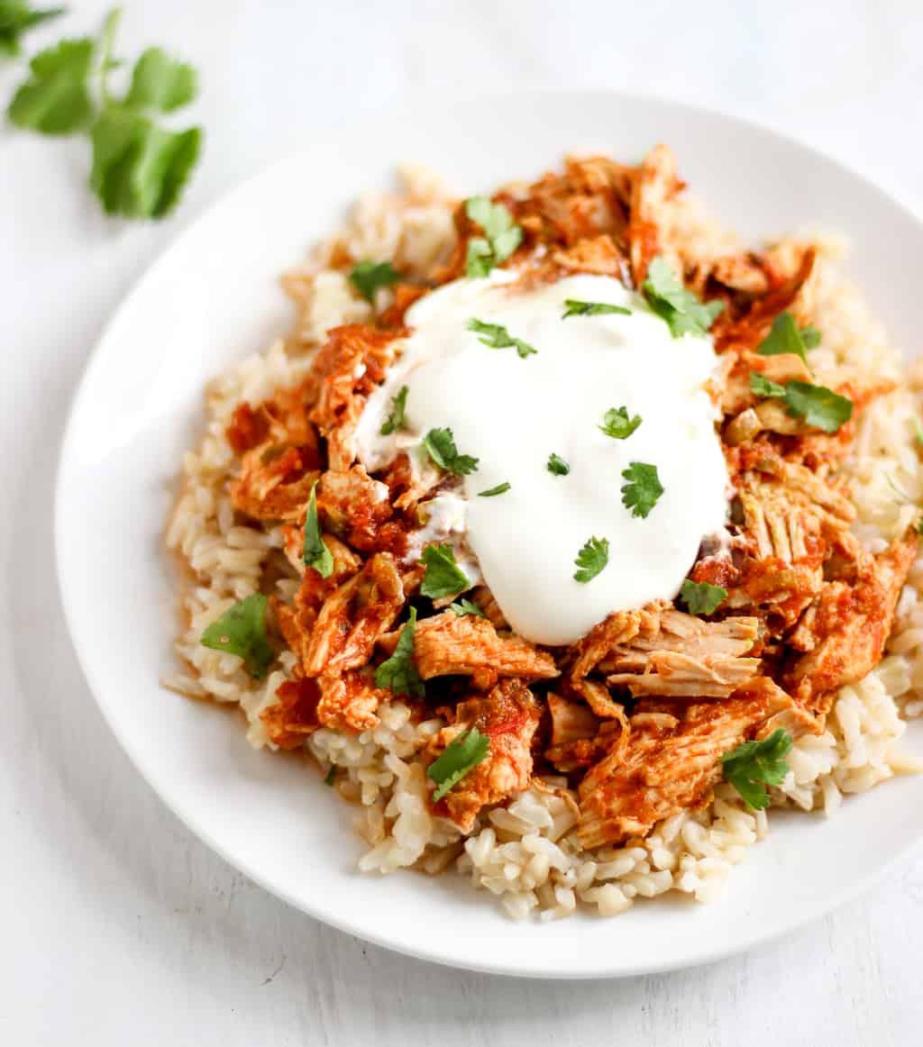 Simple 3 Ingredient Slow Cooker Salsa Chicken