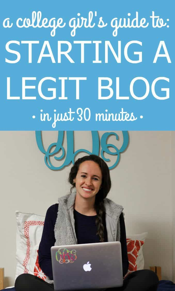 A simple guide to starting a blog in 30 minutes or less!