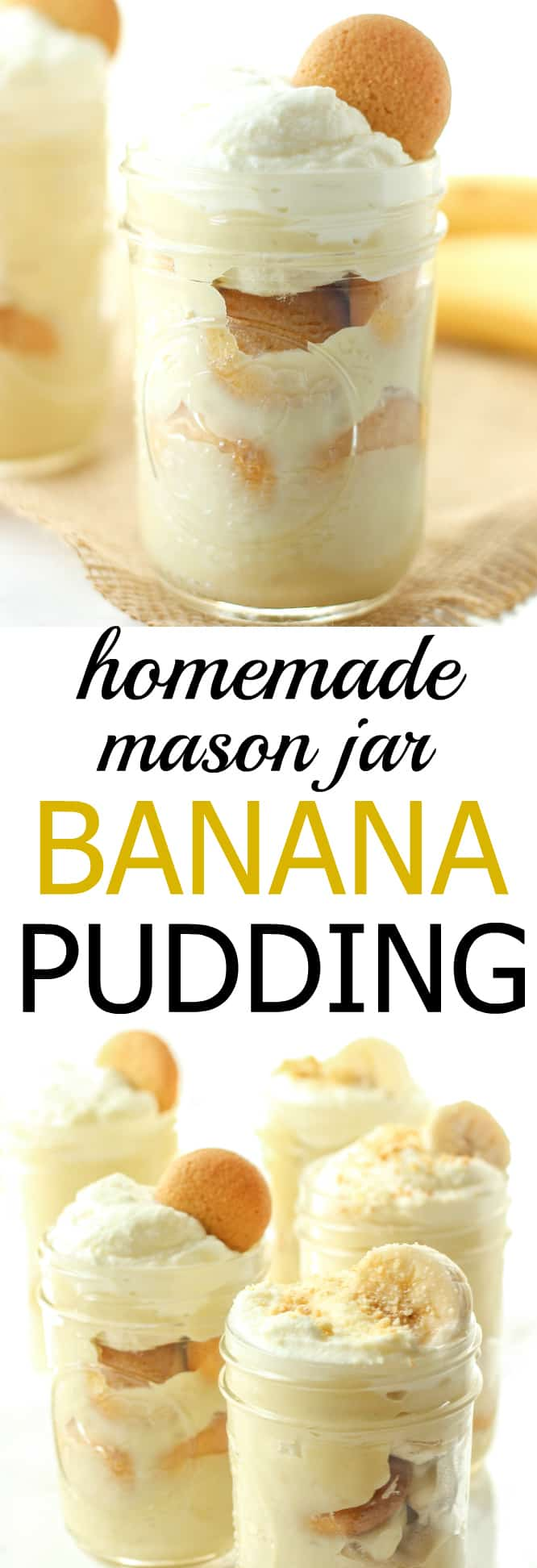 This mason jar banana pudding is 100% homemade and has all real ingredients!