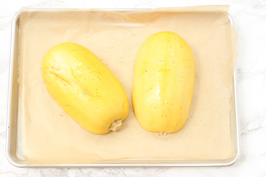 How to cook spaghetti squash cut in half