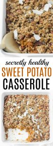 You'd never know this is healthy sweet potato casserole! And the crunchy oatmeal pecan topping is to die for.