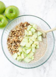apple oatmeal batter