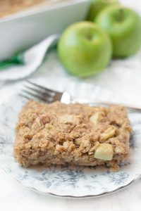 Slice of apple baked oatmeal