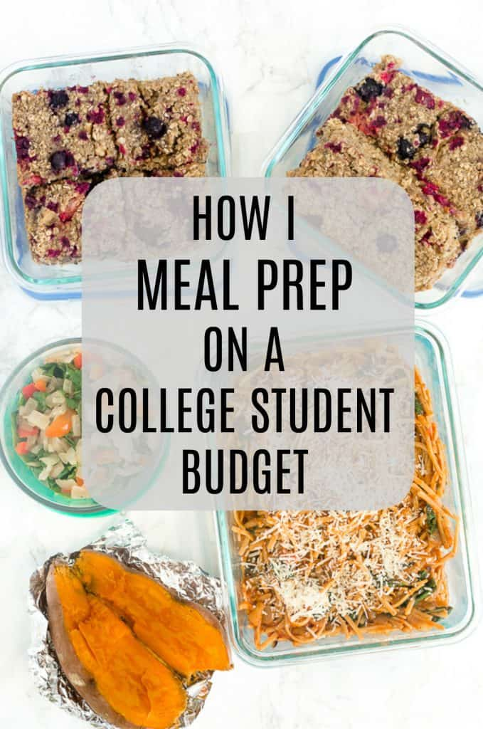 Healthy meal prepping on a college budget!
