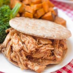 2-Ingredient Crockpot Pulled BBQ Chicken